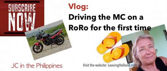 riding, motorbike, roro, philippines, embarking