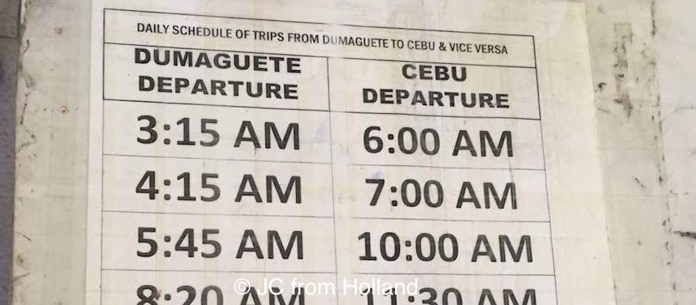 bus, schedule, dumaguete, cebu, time tables, departure, arrival, ceres