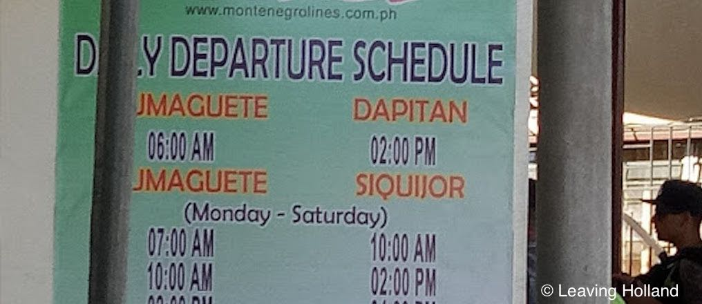 dapitan, dumaguete, ferry schedule, montenegro, departure, roro, car, motorcycle, daily, time, timetables, Mindanao