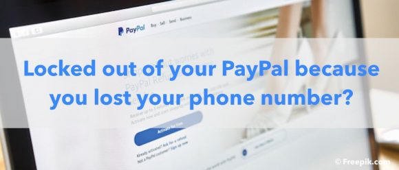 I lost my phone and cannot login payPal