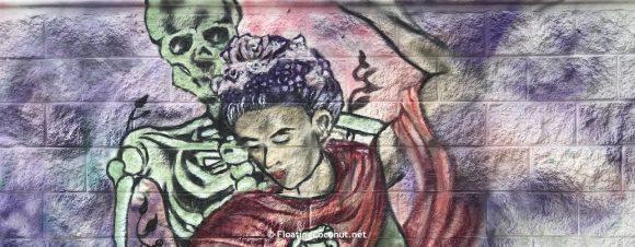 Playa del Carmen dancing with Death mural