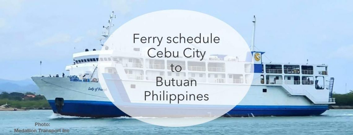 Cebu city to button ferry timetables