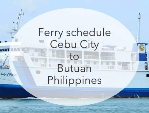 Cebu city to button ferry timetables