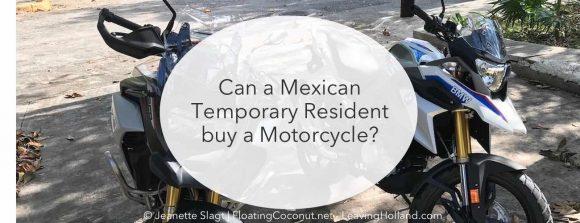 buy a motor Mexico temporary resident
