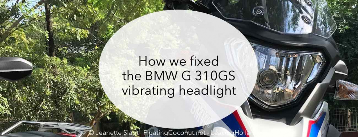 BMW G 310GS, fix, headlight, vibration