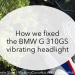BMW G 310GS, fix, headlight, vibration